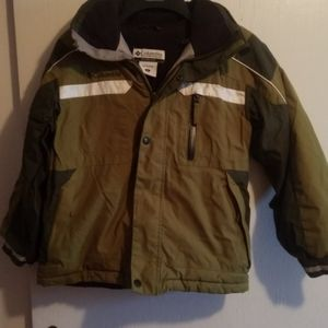 Boys size 8 winter jacket with hood